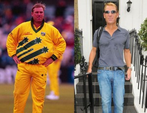 Clear evidence of Warne's  transition.
